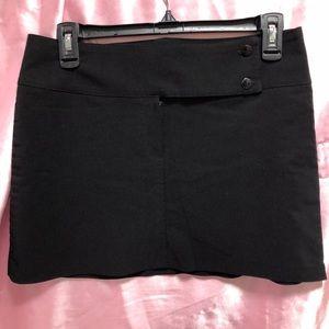 Black Mini Skirt by Tendency International